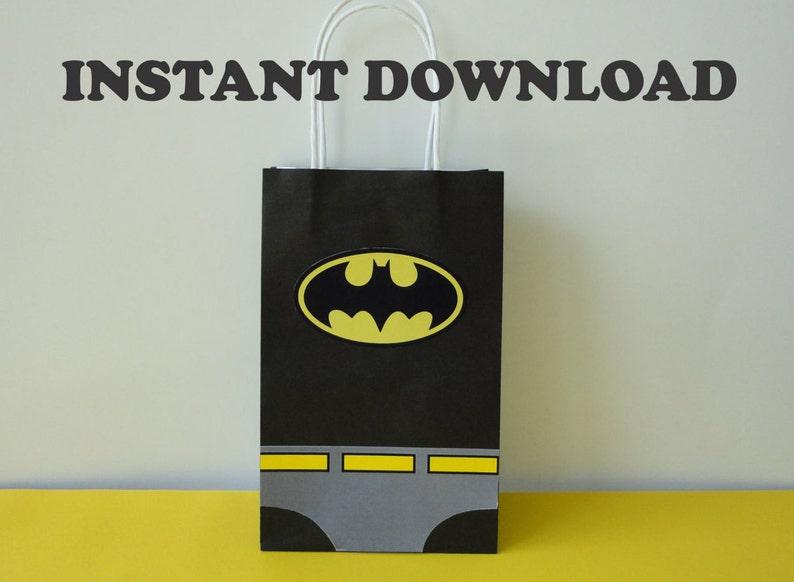 Batman Party Favor Bags Birthday Favors DIY Goody