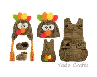 Thanksgiving baby turkey, Turkey baby hat, Turkey baby newborn, Turkey romper, Photo props, photography props, Photo shoot, Costume boy girl