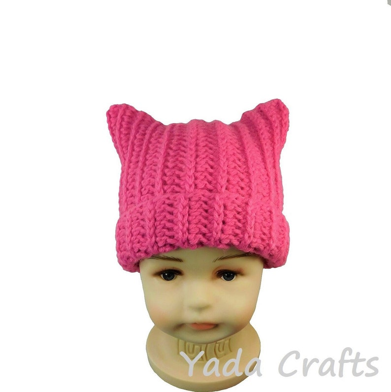 fcfbe866799 Crochet newborn baby Pink Pussy Hat Cat Hat  Meow hat newborn