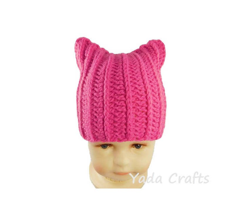 fb0e45ba47a Crochet Pussy Hat infant baby hat Kitty HatCat Hat Child