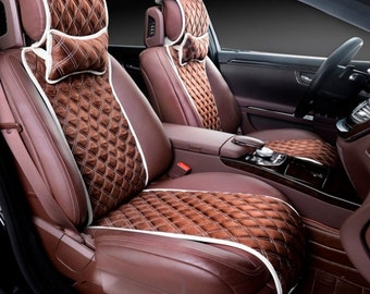 Front car seat covers, car accessories, alcantara seat covers (2 covers in set ), gift for him, gift for her, gift for man
