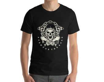 Born For The Road, Motorcycle Chopper Club Riders T-Shirt