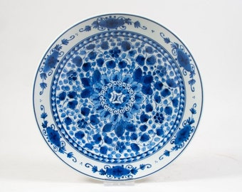 Delft blue plate 1981 De Porceleyne Fles Royal Delft plate Handpainted wallplate Delft blue ware 9.8 inches