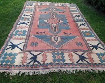 rug runner runner rug blue pink big wool vintage rug oushak home decor hali deco rugs blue long large vintage area rug christmas rugs - Christmas Rugs Large