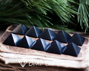Set of 10 Pcs shungite pyramids | Karelia magic stone, Reiki, EMF Protection, Mineral, Meditation, Crystal Grid, WHOLESALE