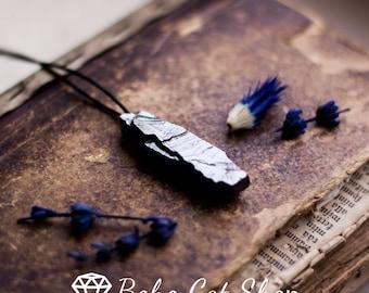 Elite Shungite pendant stone | EMF protection, shungite jewelry, energy crystal, chakra, healing crystal, gift