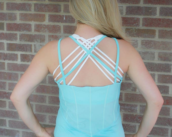 Featured listing image: SALE!! BEST SELLER!! Mint Green Crossback Mesh Tank