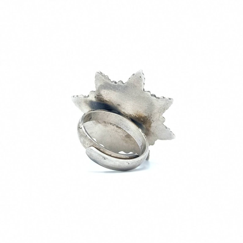 Floral Ring in sterling silver Statement peice Gift for her Party wear Antique jewellery