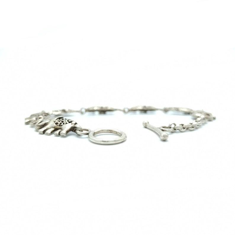 Elephant Bracelet in sterling silver Traditional Indian jewellery