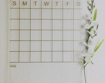 premium large gold acrylic calendar with notes housewarming gift wall calendar dry erase calendar wedding gift office calendar