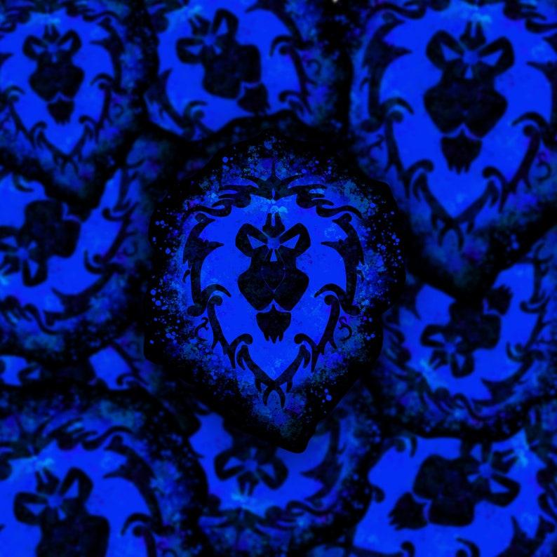 World of Warcraft Alliance Splatter Paint 3v3 Vinyl Sticker