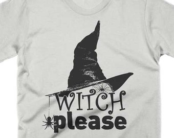693e83f99 Witch Please T Shirt Funny Halloween Pun Shirt Spooky Tees Womens Scary T  Shirts Mens Witch Shirt October Gifts Graphic Novelty Tee TShirts