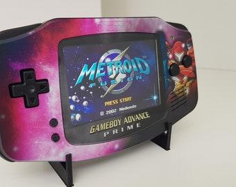 Gameboy Advance GBA Metroid Prime themed Backlight IPS V2