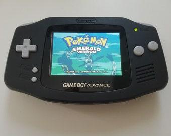 Nintendo Gameboy Advance Console Black backlight IPS - New Glass Lens