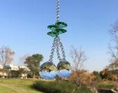 Car Rearview Mirror Charm, Crystal Suncatcher, Home Office Garden Decoratioin