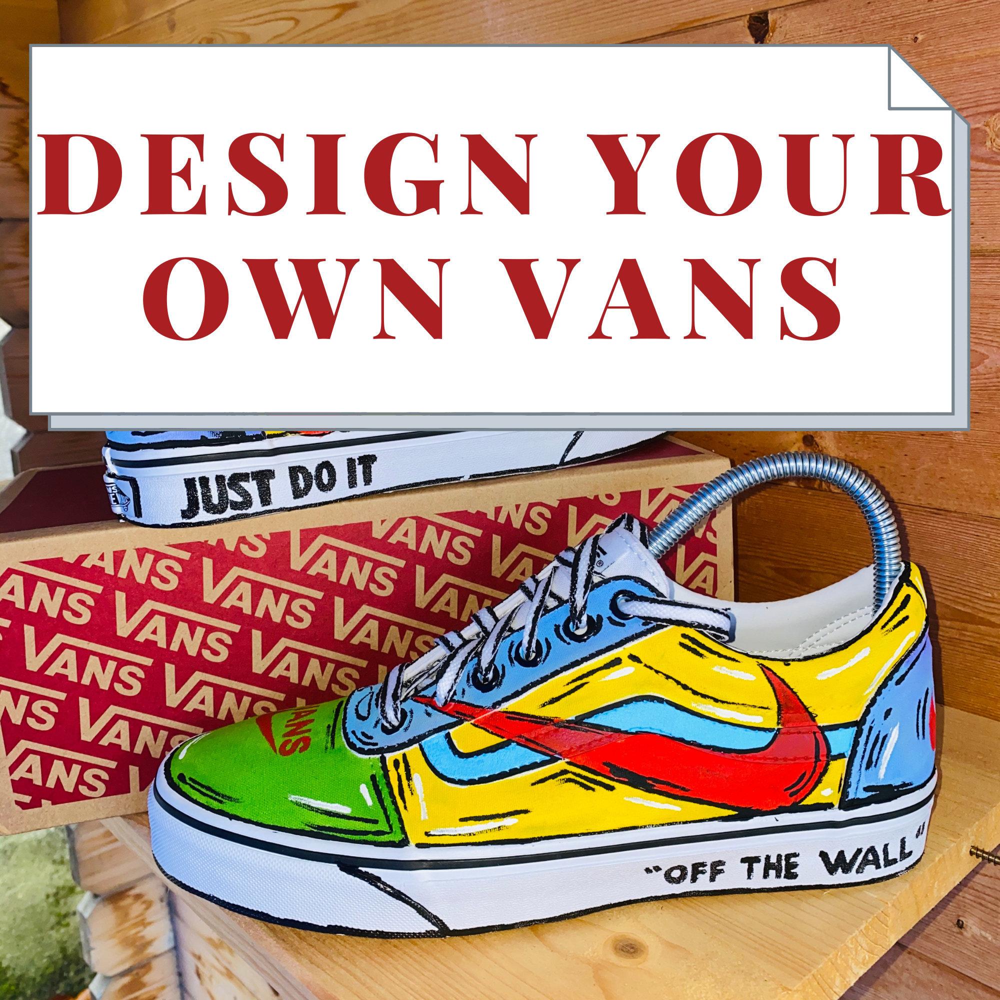 Cartoon Vans Nike   Custom Shoes   Hand-painted