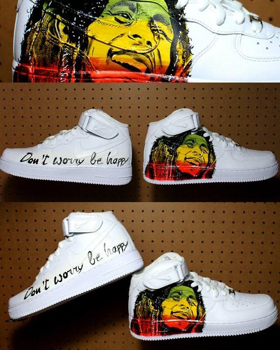 Bob Marley shoes NIKE air force Hand