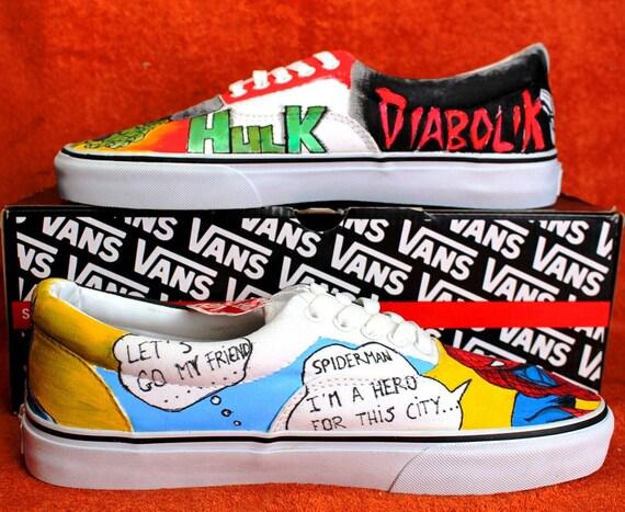 vans fumetti scarpe