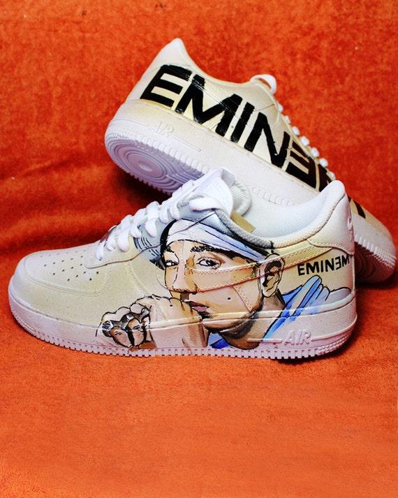 Estrella Viva Ciro  Eminem Shoes Nike Custom NIKE air force hand-painted | Etsy