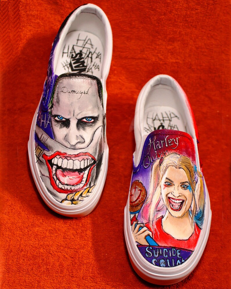 e08bba836c3f Suicide Squad Vans Custom Shoes Hand-Painted