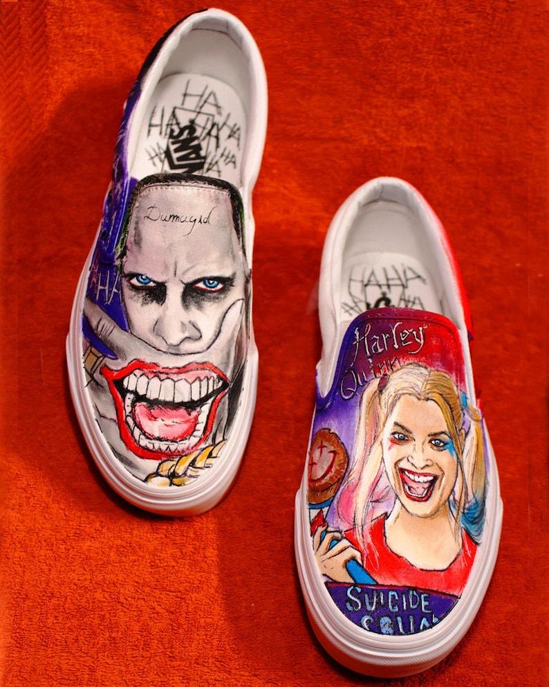 8fd4af75350c Suicide Squad Vans Custom Shoes Hand-Painted