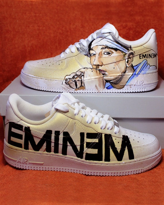 Eminem Shoes Nike | Custom NIKE air force hand painted