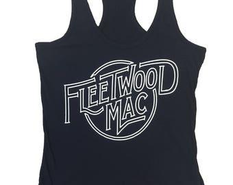 Fleetwood Mac Black Womens Tank Top
