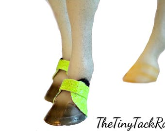 Glittery Bell Boots 11 COLORS TO CHOOSE! For Breyer  Traditonal 1:9 scale Model Horses