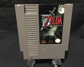 Leyenda de Zelda juego de Nintendo NES de noche