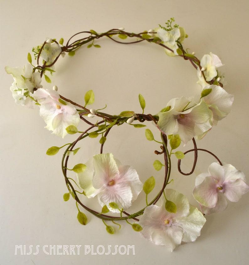 Bridal Jewelry Elven Crown Bridal Wreath Wedding Flower Wreath FLORAL MUSE 5