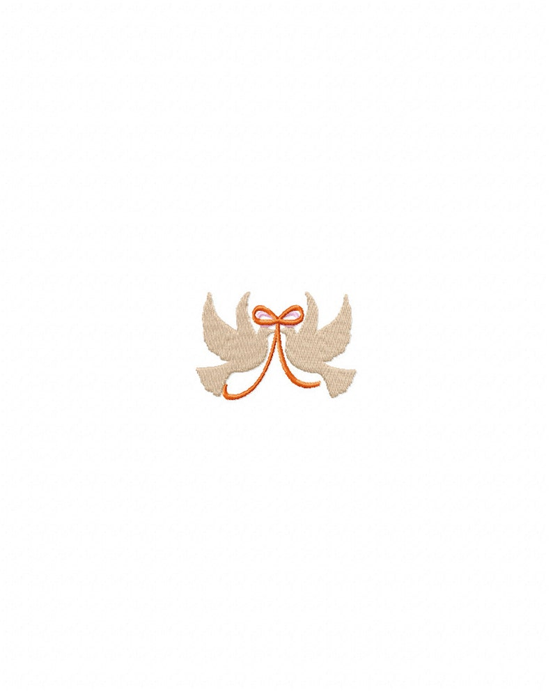 Colomba Ricamo Design Disegno Ricamo Colombe Di Cerimonia Etsy
