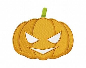 Halloween jackolanter pumpkin mask embroidery design