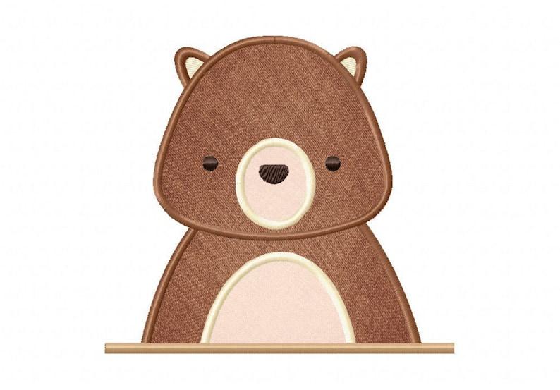 Animale orso sia applique e cucito macchina ricamo design etsy