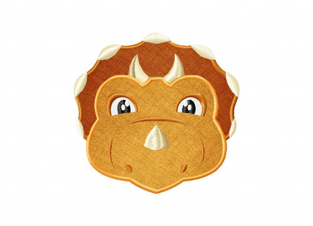 Triceratops Dinosaur Machine Embroidery Design Bonus Free Etsy