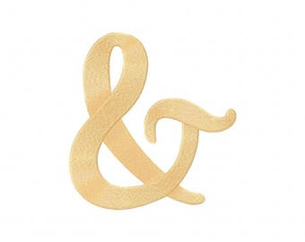 Ampersand sign and embroidery design