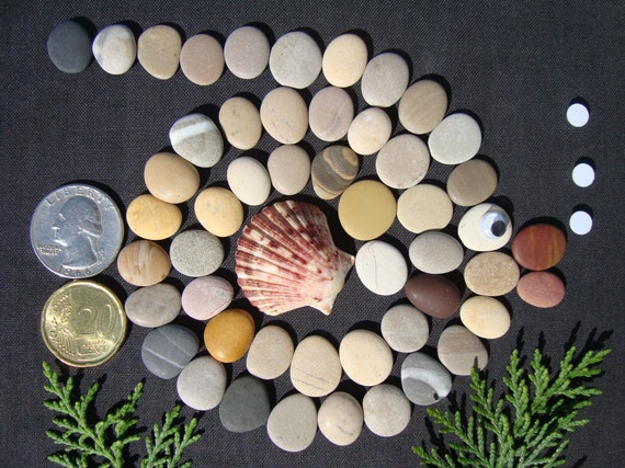 1,5cm-3,5cm Painting /& crafts; tiny to medium surf tumbled decorative pebbles 0,6-1,4 2Lbs-145 Smooth flat beach stones for pebble art