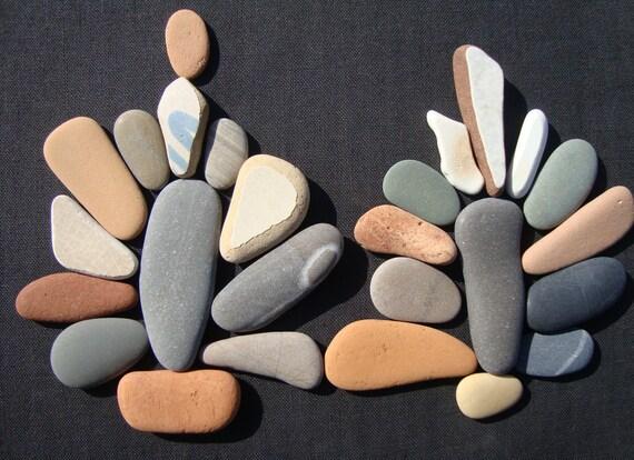 Pebble Art Supply Well Chosen Elongated Shape Oblong Sea Stones and Sea Pottery PXP19 26 Mixed Lot