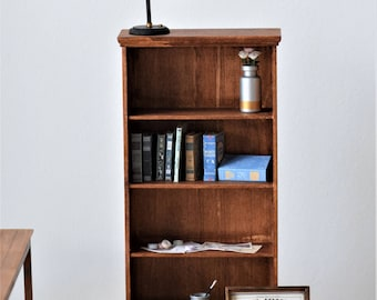 1/6 SCALE SET bookcase, books, painting tools - dolls furniture