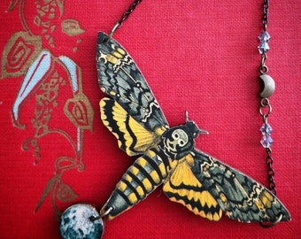 of your choice: cat Gothic witchy lunar moth Resin hairclip fox
