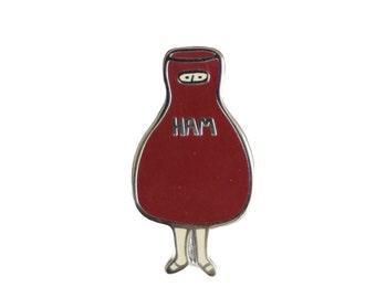 Scout's Ham Costume Enamel Pin - Literary Lapel Pin // Hard Enamel Pin, Cloisonné, Pin Badge
