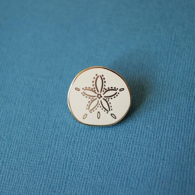 c67cb9e34 ... Sand Dollar Enamel Pin Shell Lapel Pin // Hard Enamel Pin image ...