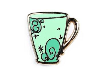 Swirl Cup Enamel Pin - Lapel Pin // Hard Enamel Pin, Cloisonné, Pin Badge