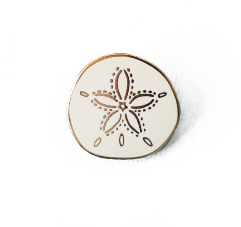 763c48620 Sand Dollar Enamel Pin Shell Lapel Pin // Hard Enamel Pin image ...