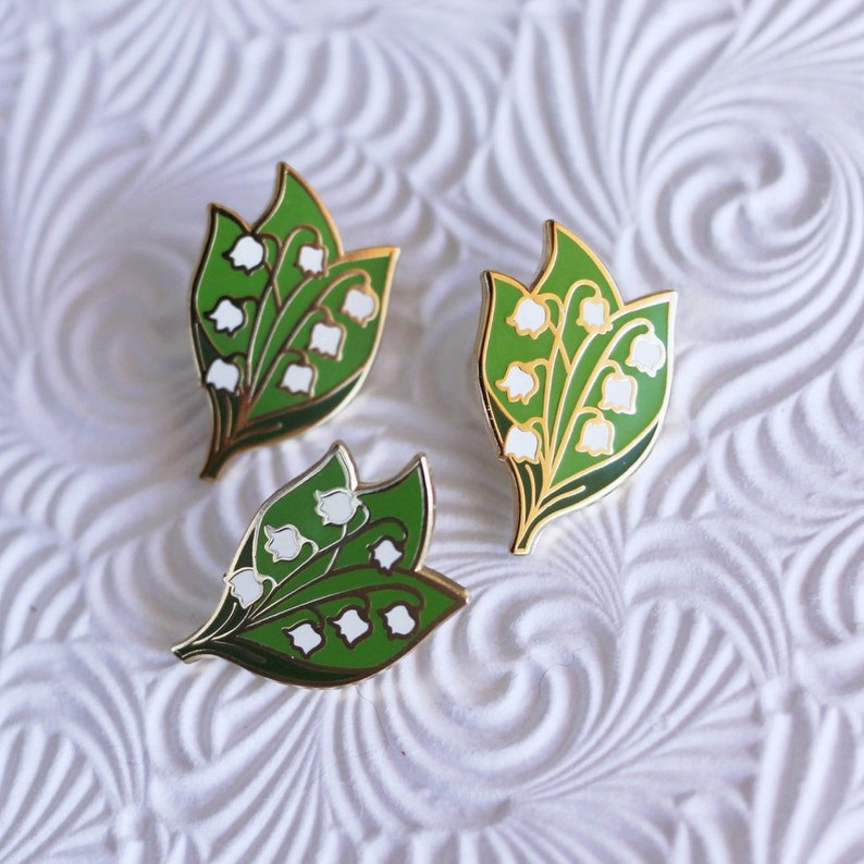 Lily of the Valley Enamel Pin Flower Lapel Pin // Hard   Etsy