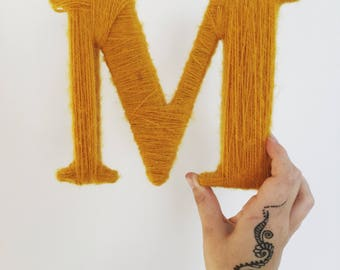 Large Yarn Wrapped Letters (wall hanging)