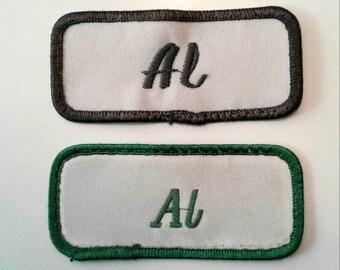 Vintage Al Name Patches