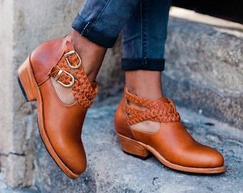 Leather Ankle Boots, Ankle Boots, Leather Boots, Boots, Boho Boots