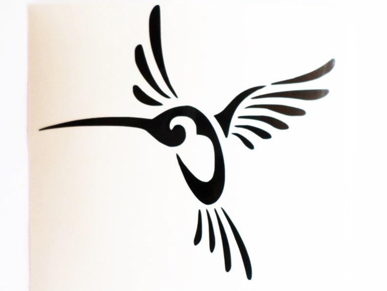 Vinyl Wall Stickers Hummingbird decal Hummingbird sticker Laptop decal Laptop sticker Colibri decal Removable wallpaper Bird decal