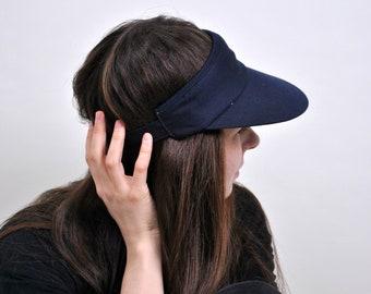 4074a4256dc Blue color Visors 90s 80s Vintage Mens Womens Unisex Retro Accessories Sun  Cap Tennis cap Sport hat Hipster Hip Hop Outfit Summer Spring top