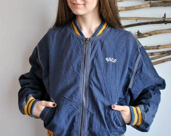 Vintage womens bomber 1990s spring autumn jacket
